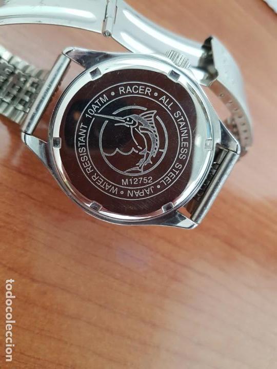 Relojes - Racer: Reloj caballero RACER de cuarzo en acero corona de rosca,esfera gris con calendario, pulsera acero - Foto 11 - 163495178