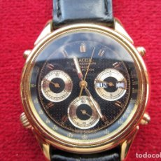 Relojes - Racer: RELOJ DE PULSERA RACER - DE PILA RECIEN PUESTA - PULSERA PIEL NEGRA ORIGINAL - FUNCIONANDO - S. Lote 181552220
