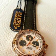 Relojes - Racer: RELOJ RACER MULTIFUNCION WUATER RESISTEN NUEVO SIN ESTRENAR FUNCIONA PERFECTAMENTE DIÁMETRO 35MILIM. Lote 190528002