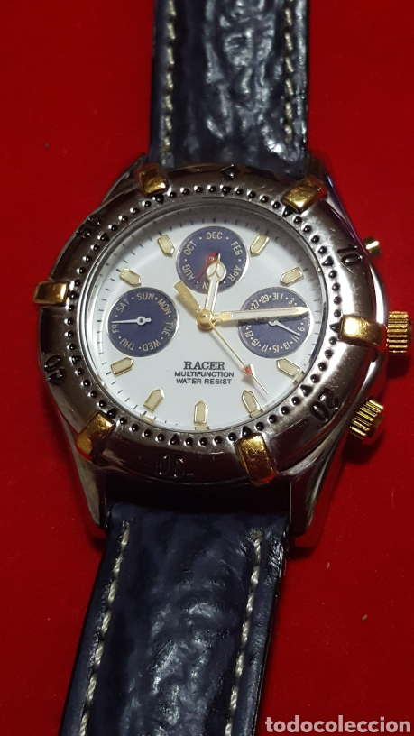 Relojes - Racer: Reloj RACER MULTIFUNCION WATER RESISTEN CUARZO NUEVO SIN ESTRENAR FUNCIONA PERFECTAM DIÁMETRO 34.7 M - Foto 4 - 190550183