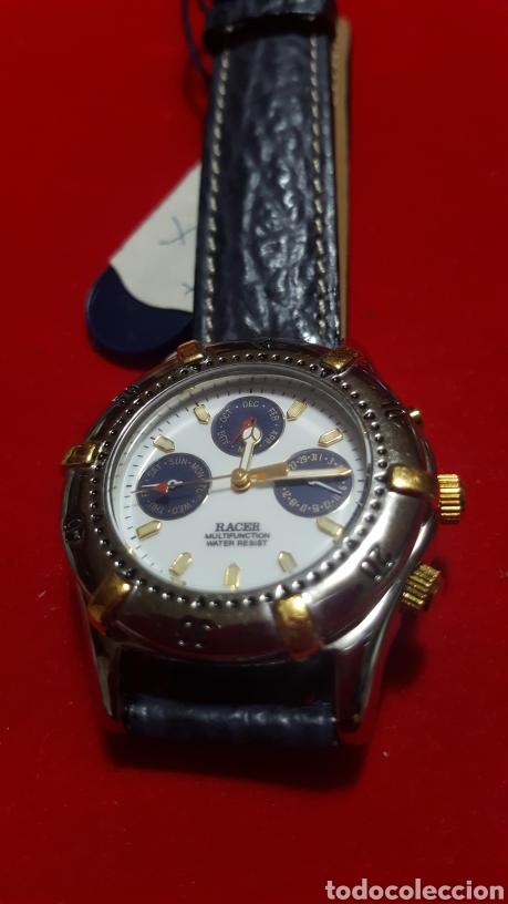 Relojes - Racer: Reloj RACER MULTIFUNCION WATER RESISTEN CUARZO NUEVO SIN ESTRENAR FUNCIONA PERFECTAM DIÁMETRO 34.7 M - Foto 5 - 190550183