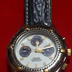 Relojes - Racer: RELOJ RACER MULTIFUNCION WATER RESISTEN CUARZO NUEVO SIN ESTRENAR FUNCIONA PERFECTAM DIÁMETRO 34.7 M. Lote 190550183