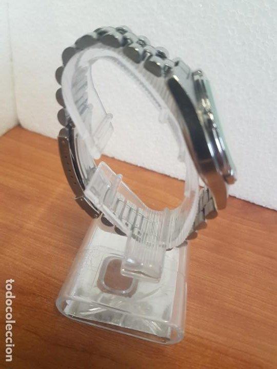 Relojes - Racer: Reloj caballero RACER cuarzo en acero, esfera blanca, corona rosca, correa original RACER en acero - Foto 3 - 190806398