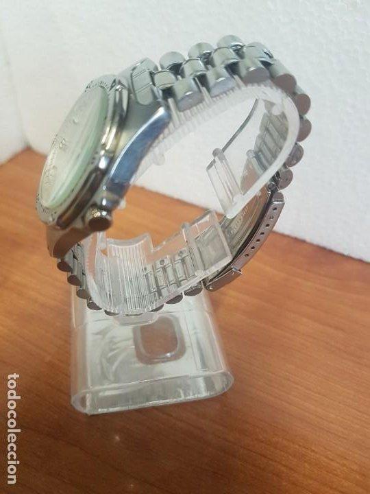 Relojes - Racer: Reloj caballero RACER cuarzo en acero, esfera blanca, corona rosca, correa original RACER en acero - Foto 6 - 190806398
