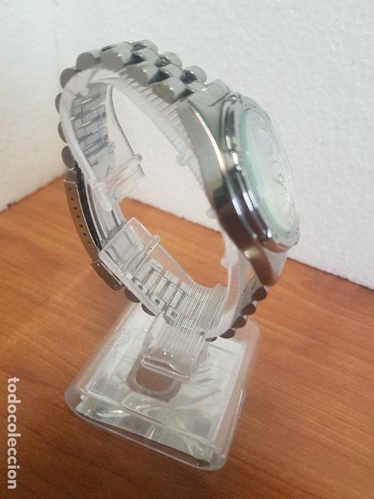 Relojes - Racer: Reloj caballero RACER cuarzo en acero, esfera blanca, corona rosca, correa original RACER en acero - Foto 8 - 190806398