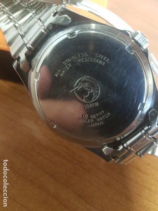 Relojes - Racer: Reloj caballero RACER cuarzo en acero, esfera blanca, corona rosca, correa original RACER en acero - Foto 14 - 190806398