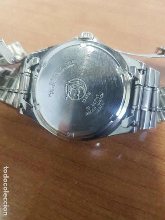 Relojes - Racer: Reloj caballero RACER cuarzo en acero, esfera blanca, corona rosca, correa original RACER en acero - Foto 17 - 190806398