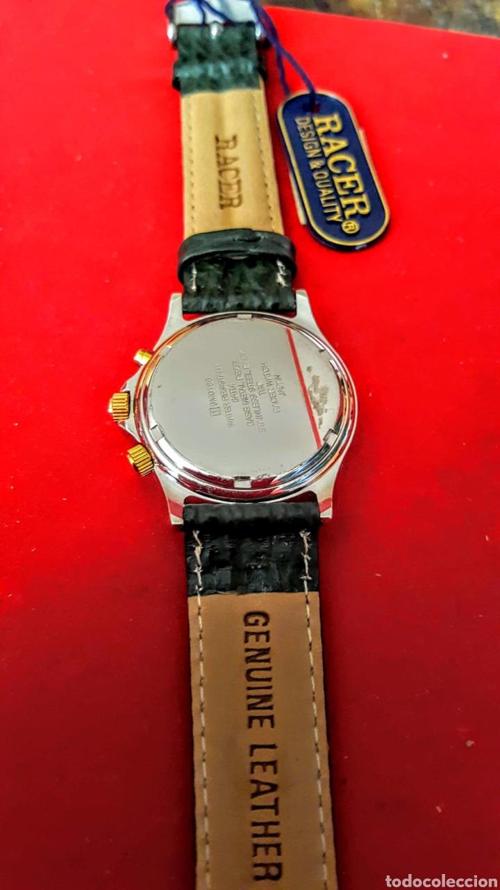 Relojes - Racer: Reloj RACER MULTIFUNCION WUATER RESISTEN NUEVO SIN ESTRENAR FUNCIONA PERFECTAMENTE DIÁMETRO 34.5 MIL - Foto 6 - 195273827