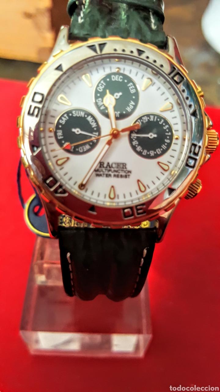 RELOJ RACER MULTIFUNCION WUATER RESISTEN NUEVO SIN ESTRENAR FUNCIONA PERFECTAMENTE DIÁMETRO 34.5 MIL (Relojes - Relojes Actuales - Racer)