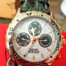 Relojes - Racer: RELOJ RACER MULTIFUNCION WUATER RESISTEN NUEVO SIN ESTRENAR FUNCIONA PERFECTAMENTE DIÁMETRO 34.5 MIL. Lote 195273827