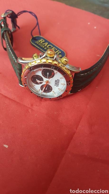 Relojes - Racer: Reloj RACER MULTIFUNCION WUATER RESISTEN NUEVO SIN ESTRENAR FUNCIONA PERFECTAMENTE DIÁMETRO 34.9 MIL - Foto 2 - 195968481