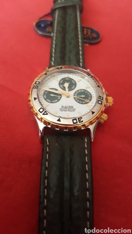 Relojes - Racer: Reloj RACER MULTIFUNCION WUATER RESISTEN NUEVO SIN ESTRENAR FUNCIONA PERFECTAMENTE DIÁMETRO 34.9 MIL - Foto 3 - 195968481