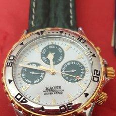 Relojes - Racer: RELOJ RACER MULTIFUNCION WUATER RESISTEN NUEVO SIN ESTRENAR FUNCIONA PERFECTAMENTE DIÁMETRO 34.9 MIL. Lote 195968481