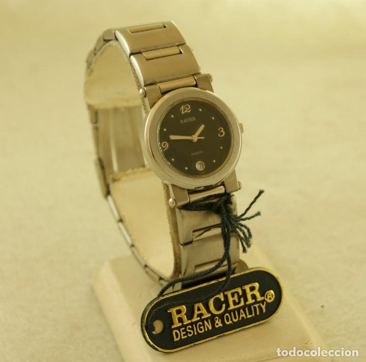 RACER ACERO QUARTZ DE DAMA NUEVO CON ETIQUETAS 16990PTAS (Relojes - Relojes Actuales - Racer)