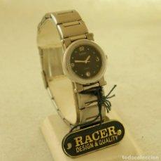 Relojes - Racer: RACER ACERO QUARTZ DE DAMA NUEVO CON ETIQUETAS 16990PTAS. Lote 197425258