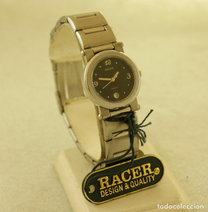 Relojes - Racer: RACER ACERO QUARTZ DE DAMA NUEVO CON ETIQUETAS 16990PTAS - Foto 2 - 197425258