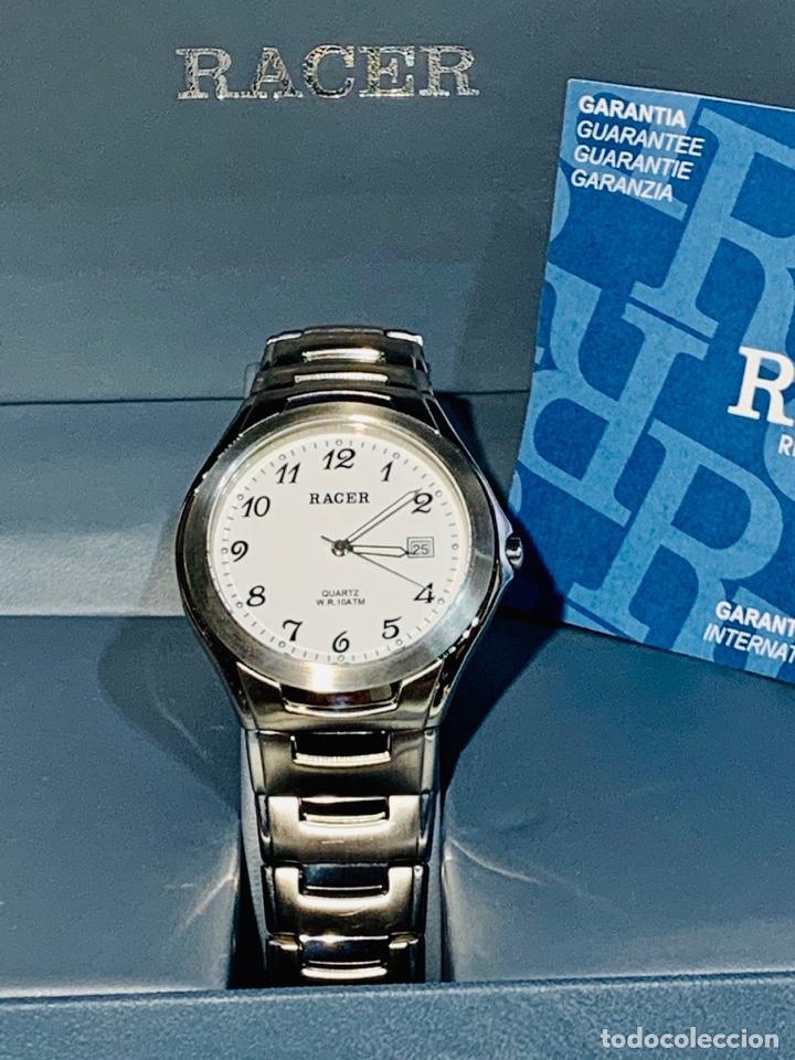 Relojes - Racer: Reloj Racer Quartz Water Resistant 10ATM Stainless Steel. Ed. Espec. Caja y papeles. Nos. Impecable. - Foto 2 - 204762130