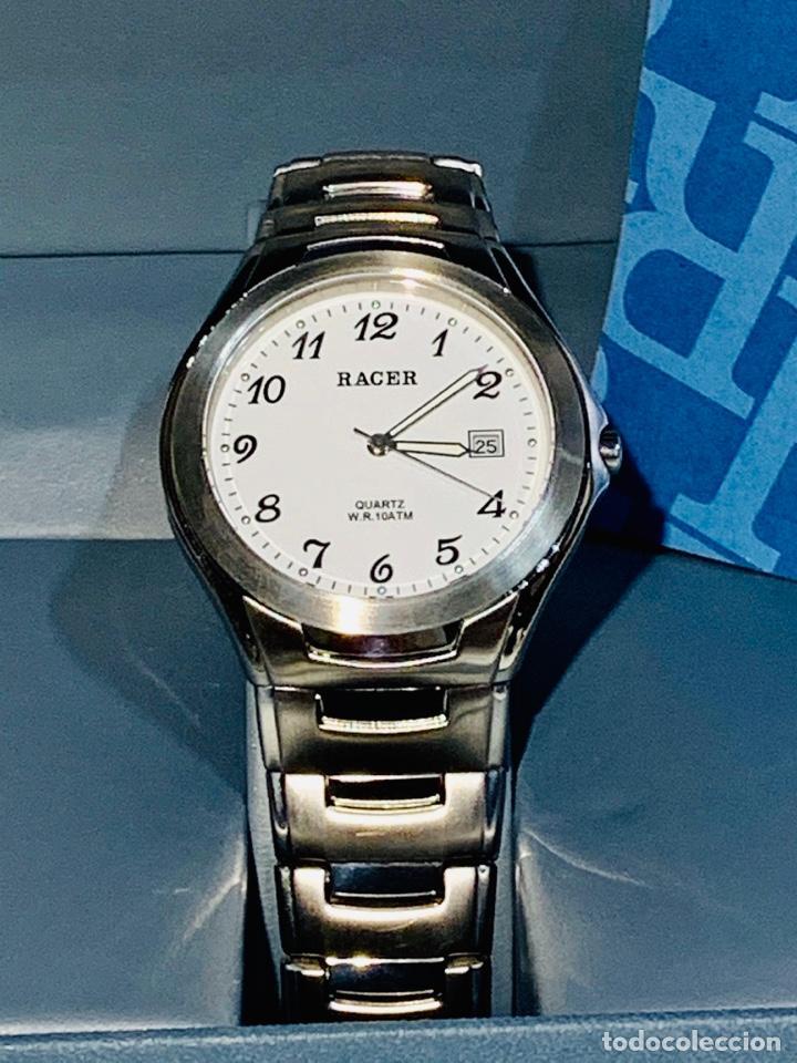 Relojes - Racer: Reloj Racer Quartz Water Resistant 10ATM Stainless Steel. Ed. Espec. Caja y papeles. Nos. Impecable. - Foto 3 - 204762130