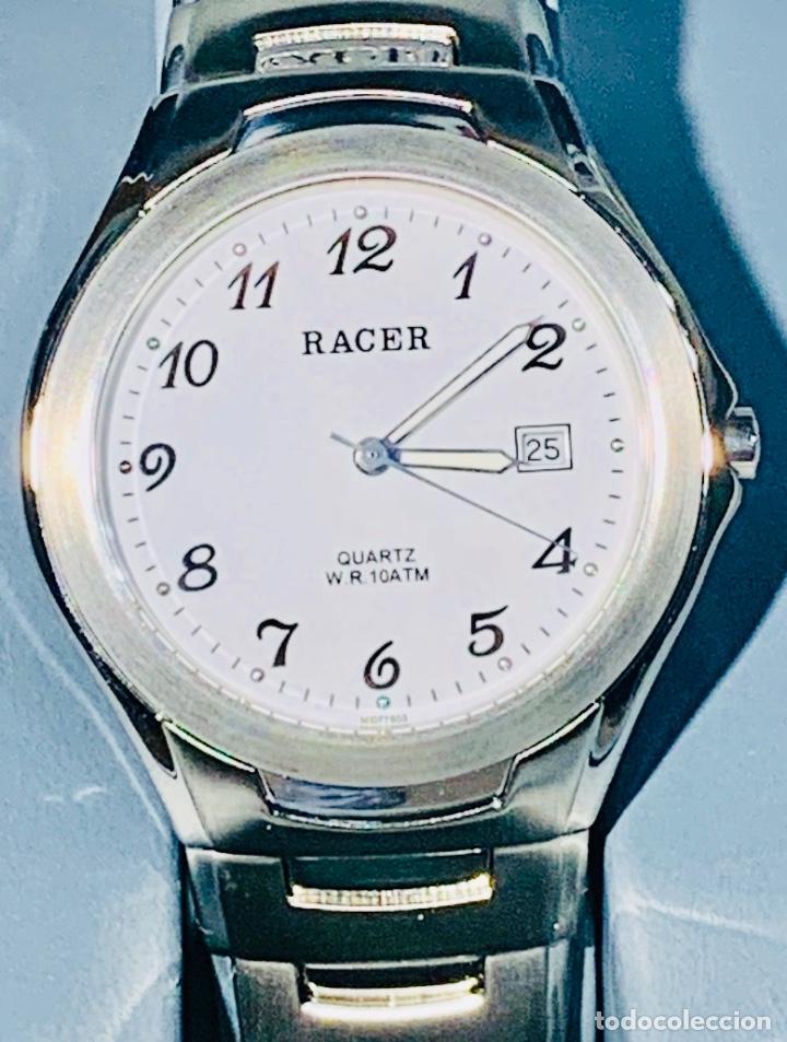 Relojes - Racer: Reloj Racer Quartz Water Resistant 10ATM Stainless Steel. Ed. Espec. Caja y papeles. Nos. Impecable. - Foto 4 - 204762130