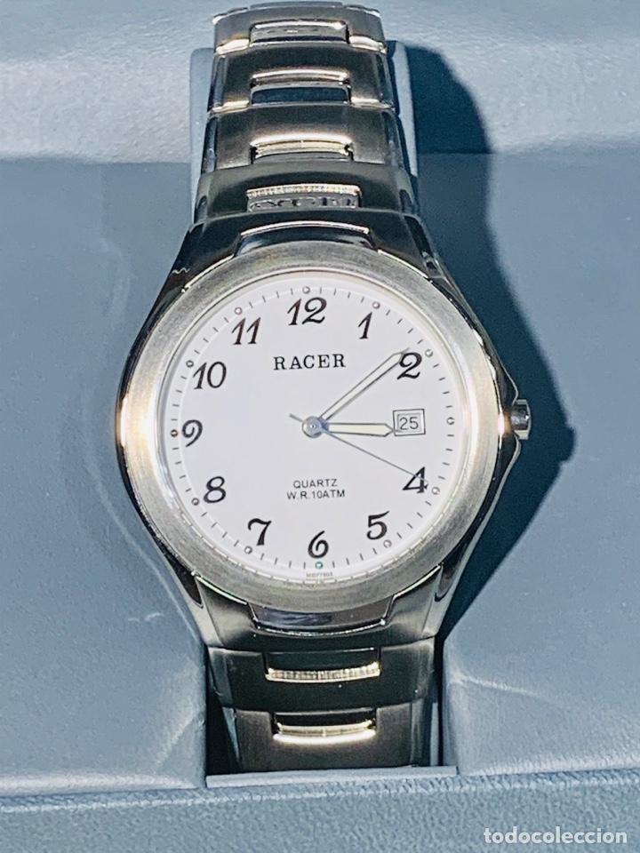 Relojes - Racer: Reloj Racer Quartz Water Resistant 10ATM Stainless Steel. Ed. Espec. Caja y papeles. Nos. Impecable. - Foto 6 - 204762130