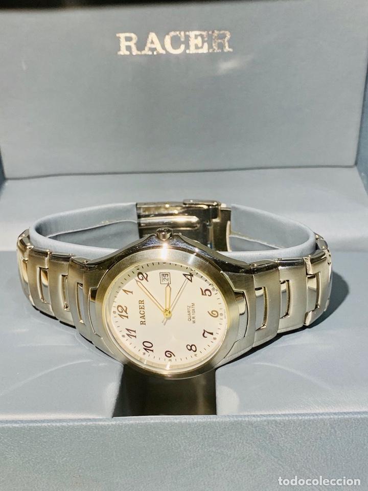 Relojes - Racer: Reloj Racer Quartz Water Resistant 10ATM Stainless Steel. Ed. Espec. Caja y papeles. Nos. Impecable. - Foto 7 - 204762130