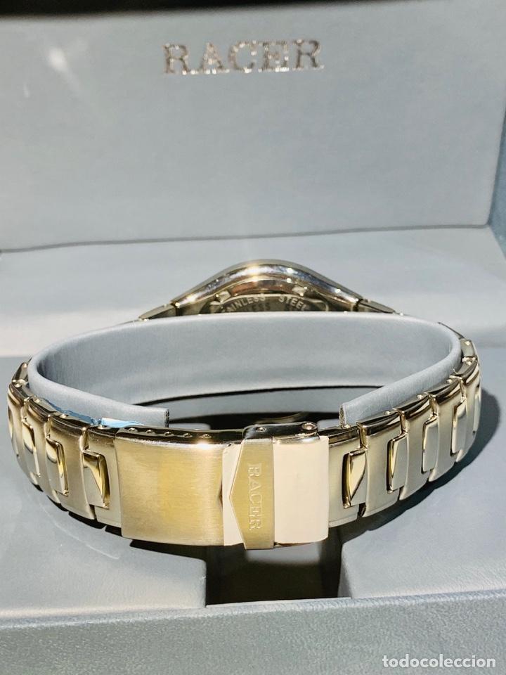 Relojes - Racer: Reloj Racer Quartz Water Resistant 10ATM Stainless Steel. Ed. Espec. Caja y papeles. Nos. Impecable. - Foto 9 - 204762130