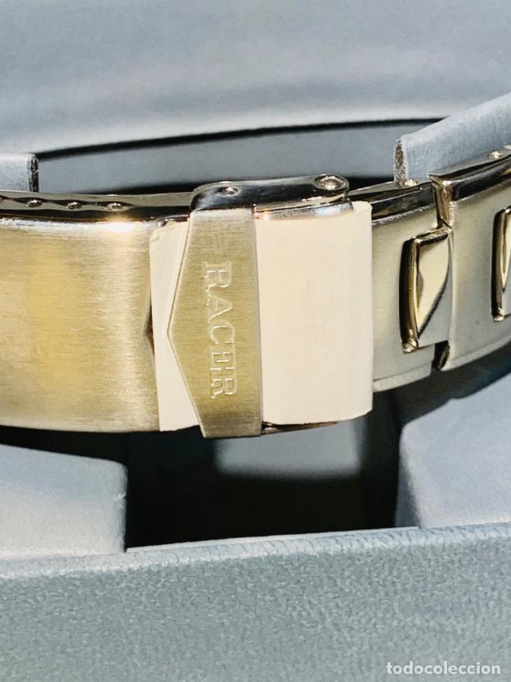 Relojes - Racer: Reloj Racer Quartz Water Resistant 10ATM Stainless Steel. Ed. Espec. Caja y papeles. Nos. Impecable. - Foto 10 - 204762130