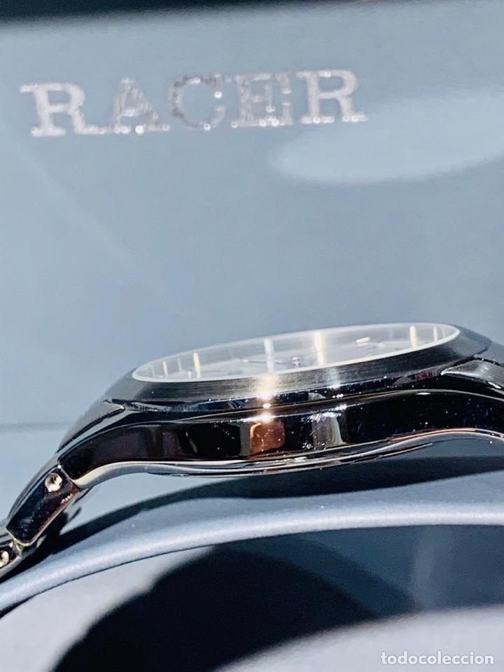 Relojes - Racer: Reloj Racer Quartz Water Resistant 10ATM Stainless Steel. Ed. Espec. Caja y papeles. Nos. Impecable. - Foto 11 - 204762130