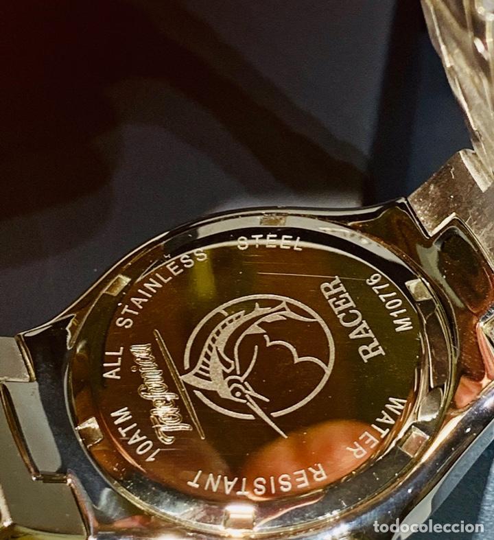 Relojes - Racer: Reloj Racer Quartz Water Resistant 10ATM Stainless Steel. Ed. Espec. Caja y papeles. Nos. Impecable. - Foto 15 - 204762130