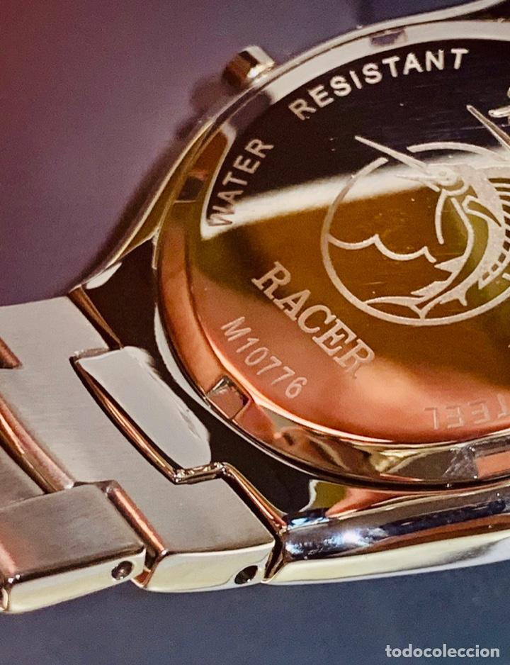 Relojes - Racer: Reloj Racer Quartz Water Resistant 10ATM Stainless Steel. Ed. Espec. Caja y papeles. Nos. Impecable. - Foto 16 - 204762130