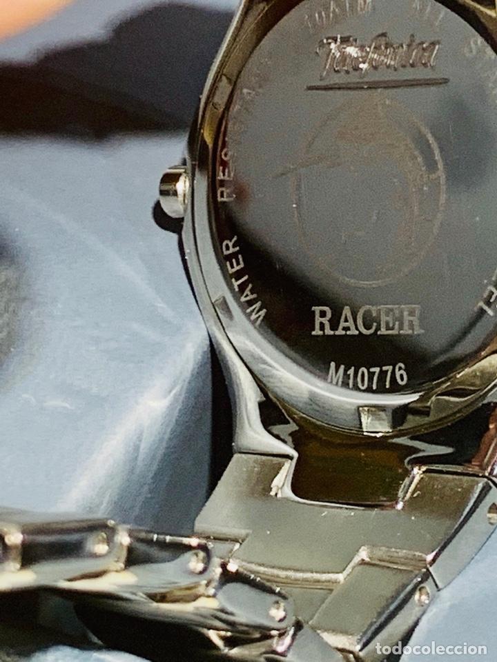 Relojes - Racer: Reloj Racer Quartz Water Resistant 10ATM Stainless Steel. Ed. Espec. Caja y papeles. Nos. Impecable. - Foto 18 - 204762130