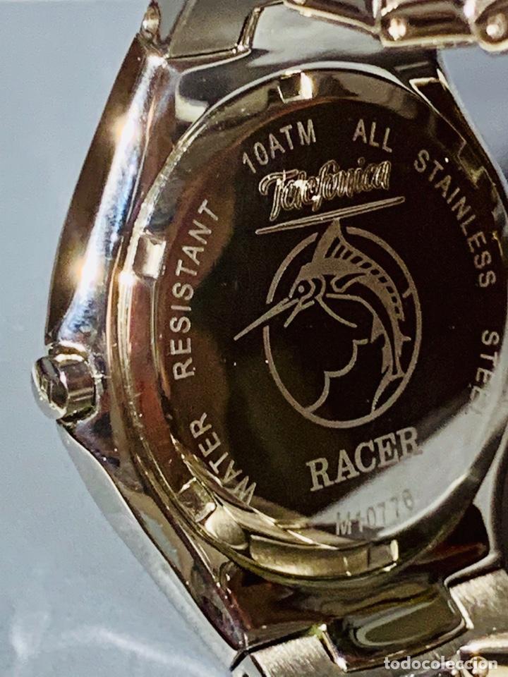 Relojes - Racer: Reloj Racer Quartz Water Resistant 10ATM Stainless Steel. Ed. Espec. Caja y papeles. Nos. Impecable. - Foto 19 - 204762130