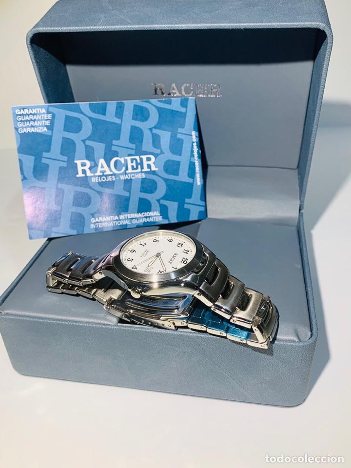 Relojes - Racer: Reloj Racer Quartz Water Resistant 10ATM Stainless Steel. Ed. Espec. Caja y papeles. Nos. Impecable. - Foto 22 - 204762130