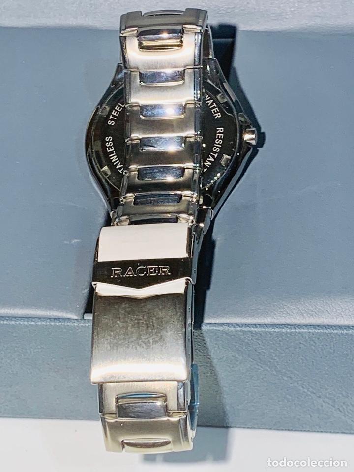 Relojes - Racer: Reloj Racer Quartz Water Resistant 10ATM Stainless Steel. Ed. Espec. Caja y papeles. Nos. Impecable. - Foto 23 - 204762130