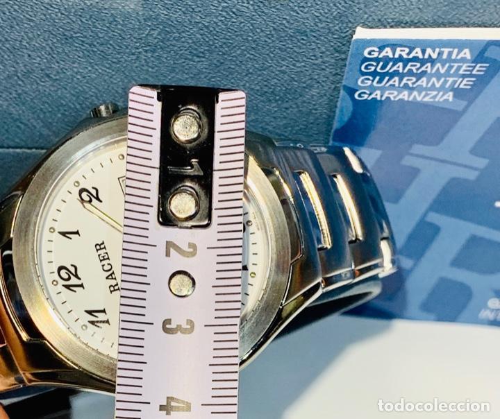 Relojes - Racer: Reloj Racer Quartz Water Resistant 10ATM Stainless Steel. Ed. Espec. Caja y papeles. Nos. Impecable. - Foto 25 - 204762130