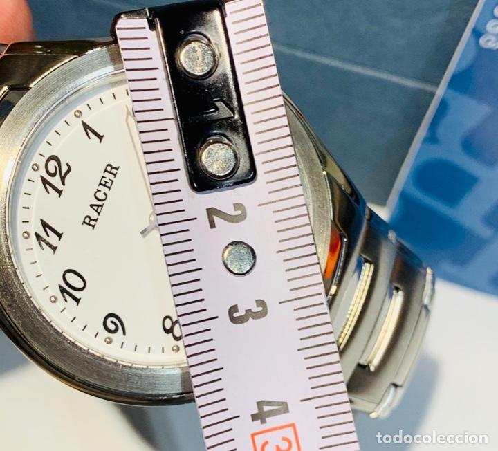 Relojes - Racer: Reloj Racer Quartz Water Resistant 10ATM Stainless Steel. Ed. Espec. Caja y papeles. Nos. Impecable. - Foto 26 - 204762130