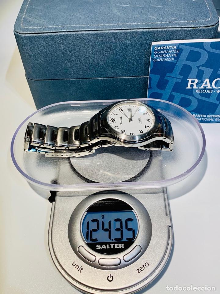 Relojes - Racer: Reloj Racer Quartz Water Resistant 10ATM Stainless Steel. Ed. Espec. Caja y papeles. Nos. Impecable. - Foto 27 - 204762130