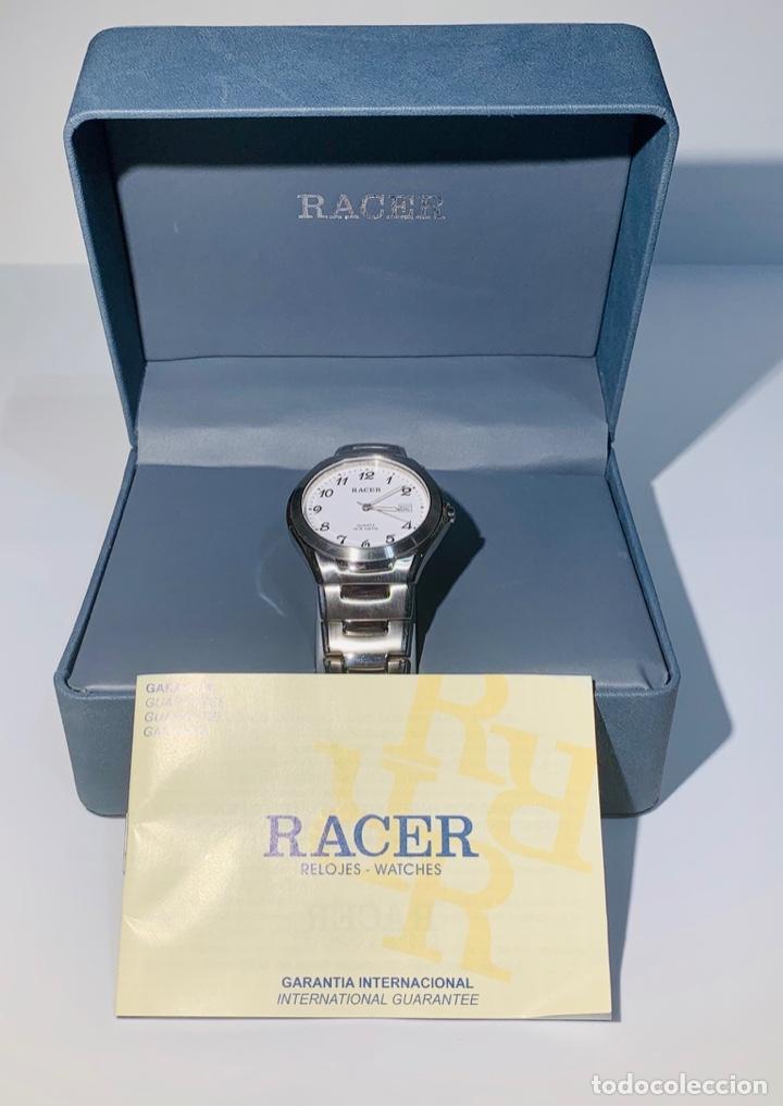 Relojes - Racer: Reloj Racer Quartz Water Resistant 10ATM Stainless Steel. Ed. Espec. Caja y papeles. Nos. Impecable. - Foto 32 - 204762130