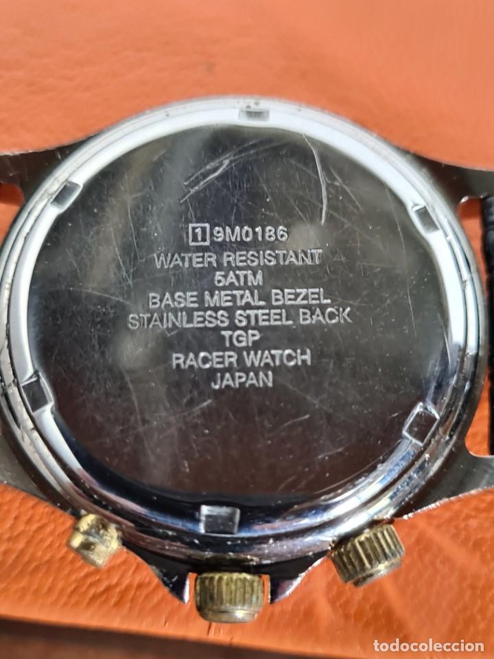 Relojes - Racer: Reloj caballero RACER multifunción en acero y oro, esfera negra, cristal sin rayas, correa de cuero. - Foto 10 - 223348503