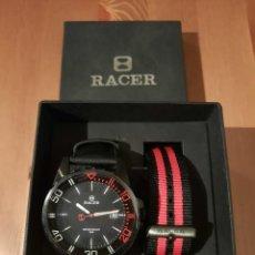 Relojes - Racer: RELOJ RACER NUEVO A ESTRENAR SUMERGIBLE 50 M Y DOS CORREAS. Lote 231041100