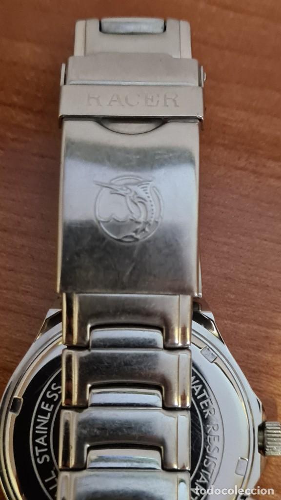 Relojes - Racer: Reloj caballero RACER multifunción acero, esfera blanca y azul, cristal sin rayas, correa acero orig - Foto 9 - 243269710