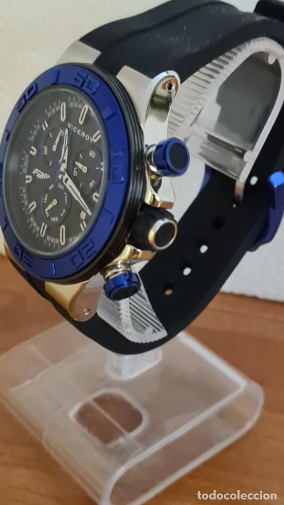 Relojes - Racer: Reloj caballero acero Viceroy cuarzo cronografo multifunción, calendario las cuatro, correa silicona - Foto 4 - 243275340