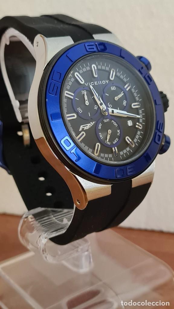 Relojes - Racer: Reloj caballero acero Viceroy cuarzo cronografo multifunción, calendario las cuatro, correa silicona - Foto 5 - 243275340