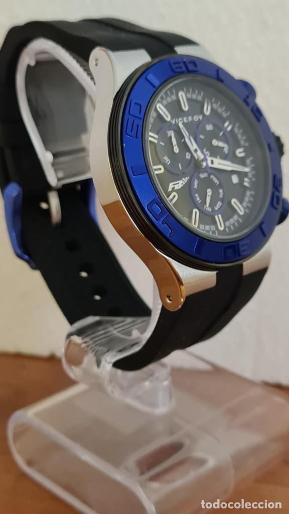 Relojes - Racer: Reloj caballero acero Viceroy cuarzo cronografo multifunción, calendario las cuatro, correa silicona - Foto 7 - 243275340