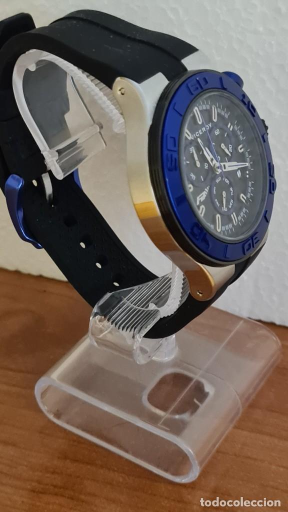 Relojes - Racer: Reloj caballero acero Viceroy cuarzo cronografo multifunción, calendario las cuatro, correa silicona - Foto 9 - 243275340