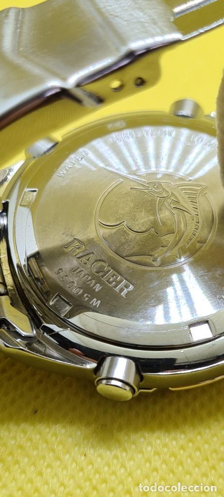 Relojes - Racer: Reloj caballero RACER cuarzo crono, calendario, varias alarmas, fecha, caja, correa acero bicolor. - Foto 13 - 247989315