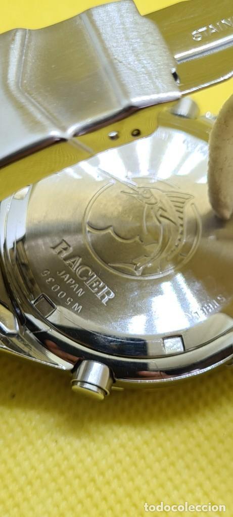 Relojes - Racer: Reloj caballero RACER cuarzo crono, calendario, varias alarmas, fecha, caja, correa acero bicolor. - Foto 17 - 247989315