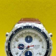 Relojes - Racer: RELOJ CABALLERO RACER CUARZO CRONO, CALENDARIO, VARIAS ALARMAS, FECHA, CAJA ACERO, BISEL GIRATORIO.. Lote 248485730