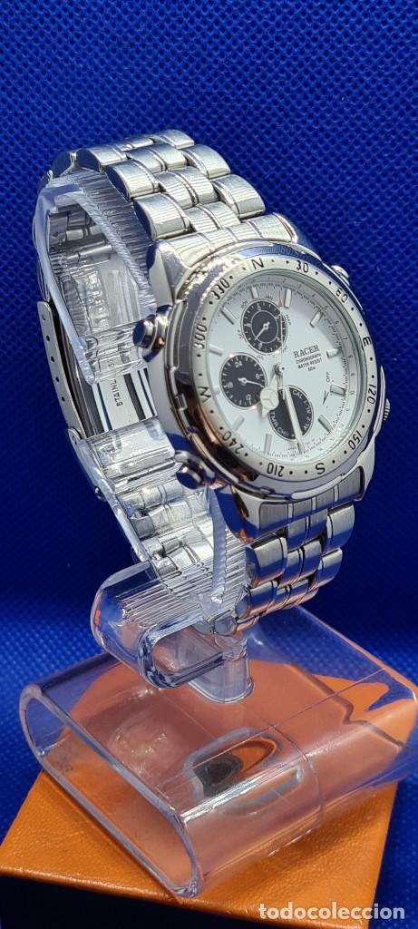 Relojes - Racer: Reloj caballero RACER cuarzo crono, calendario, varias alarmas, fecha, caja acero, caja acero origin - Foto 6 - 248493860