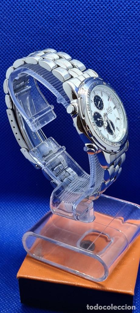 Relojes - Racer: Reloj caballero RACER cuarzo crono, calendario, varias alarmas, fecha, caja acero, caja acero origin - Foto 8 - 248493860